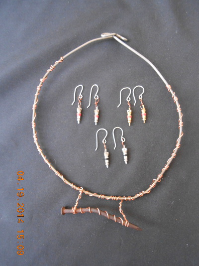 Flat tire mitigation necklace & earrings